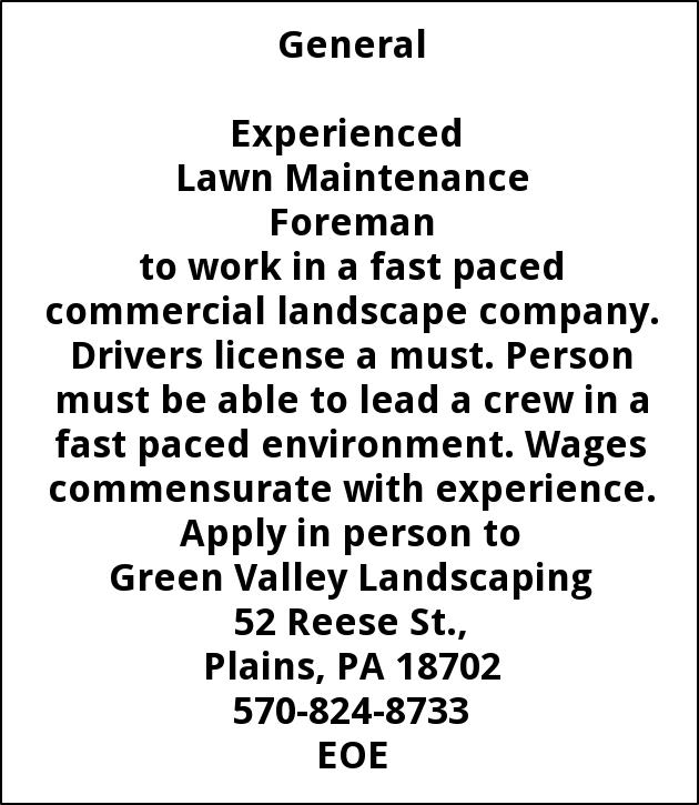 Lawn Maintenance Foreman Green Valley Landscaping Wilkes