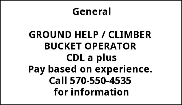 Ground Man, Climber, Bucket Operator