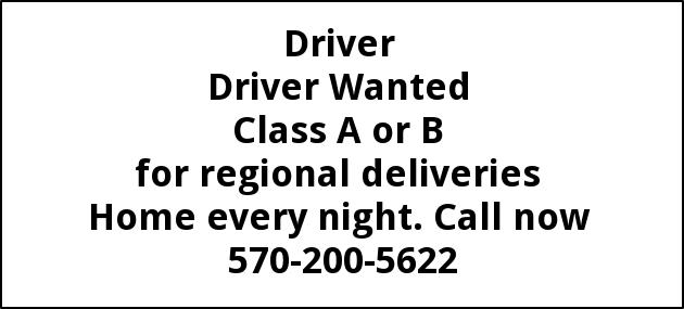 Class A or B Driver