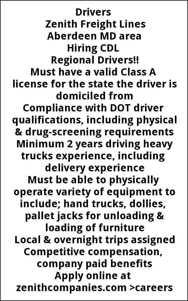 cdl a driver jobs maryland