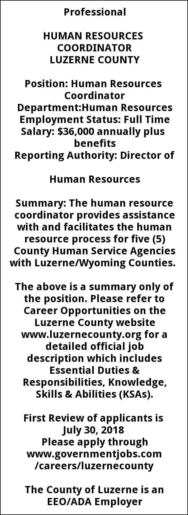 HR Co-Ordinator