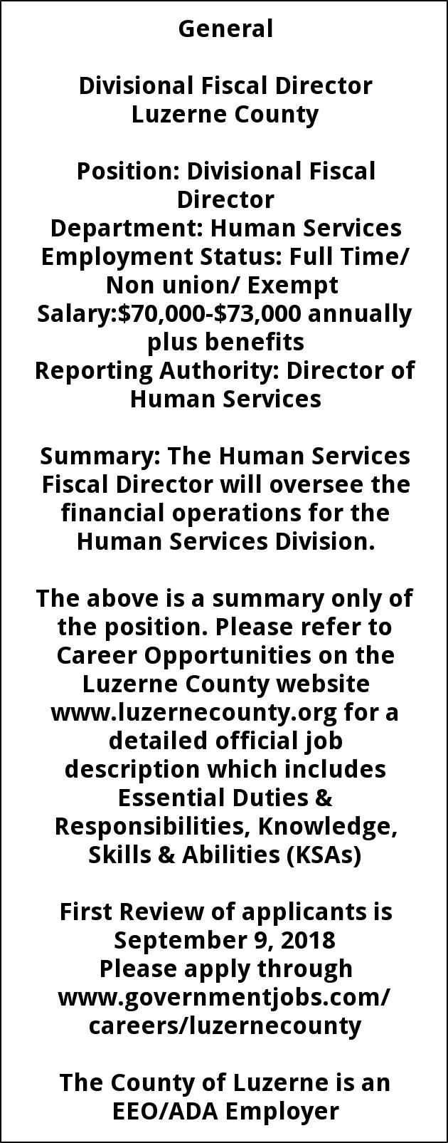 Divisional Fiscal Director