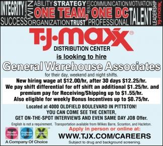 General Warehouse Associates, Tj Maxx Distribution Ctr
