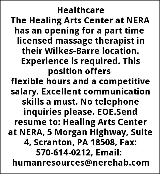 Licensed Massage Therapist Northeastern Rehab Associates