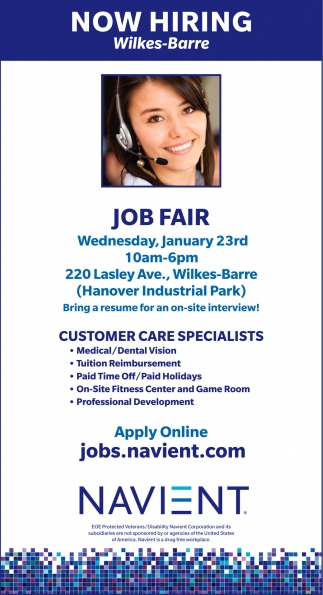 JOB FAIR November 15th Customer Service Specialists