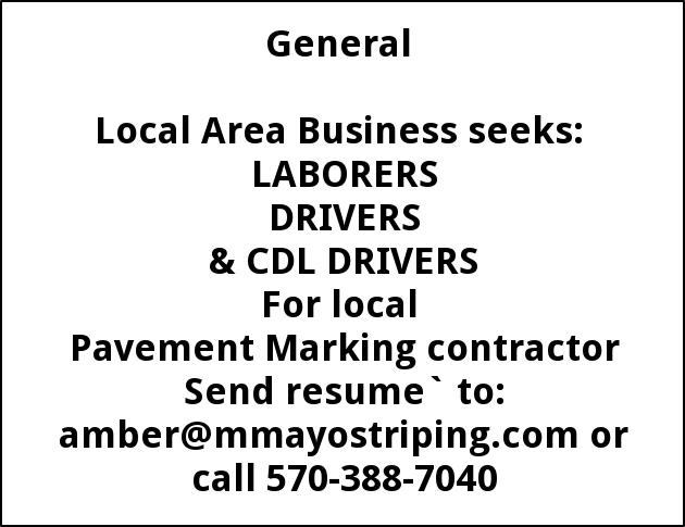 LABORERS DRIVER, CDl Drivers