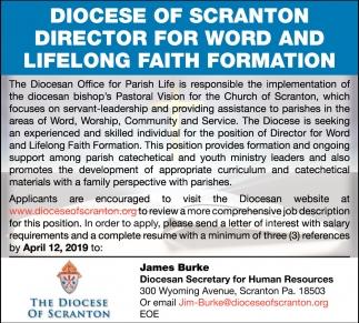 Director for Word and Lifelong Faith Formation