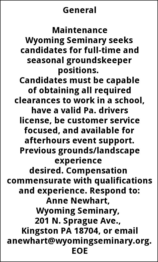 Housekeeping Foreperson