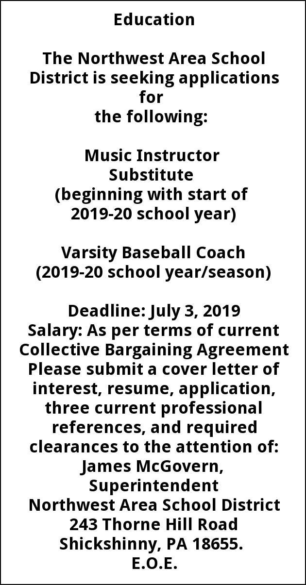 Music Instructor - Varsity Baseball Coach