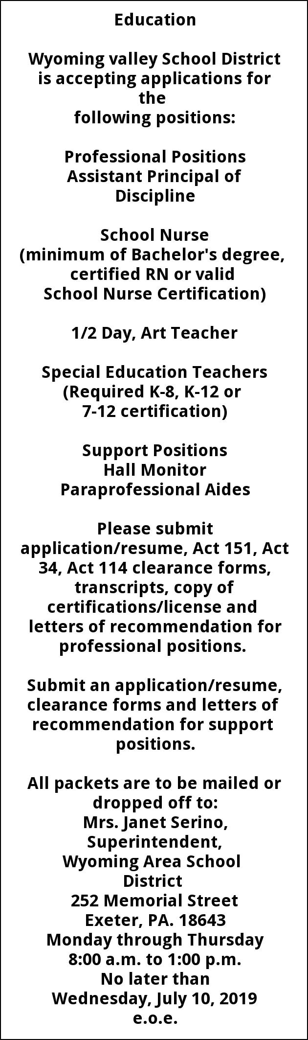 Assistant Principal Of Discipline - School Nurse