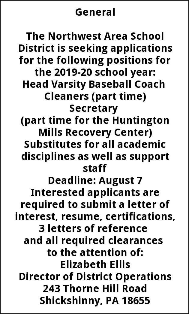 Multiple positions: Coach, Cleaners, Secretary, Substitutes