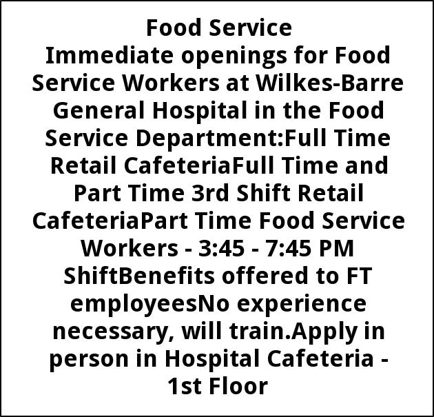 Food Service Workers, Keefer