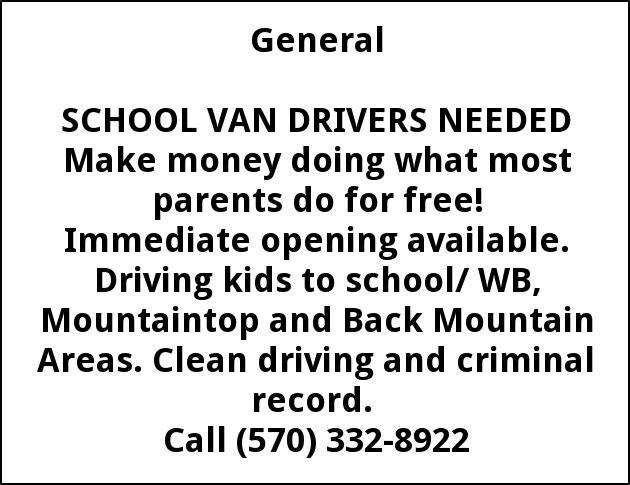 School Van Van Drivers