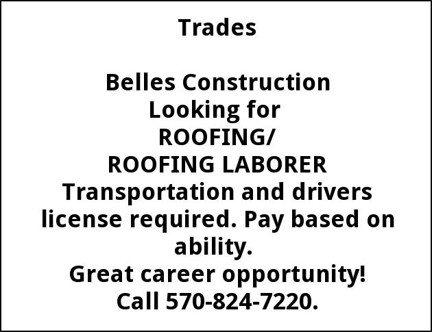 Roofer/Laborer