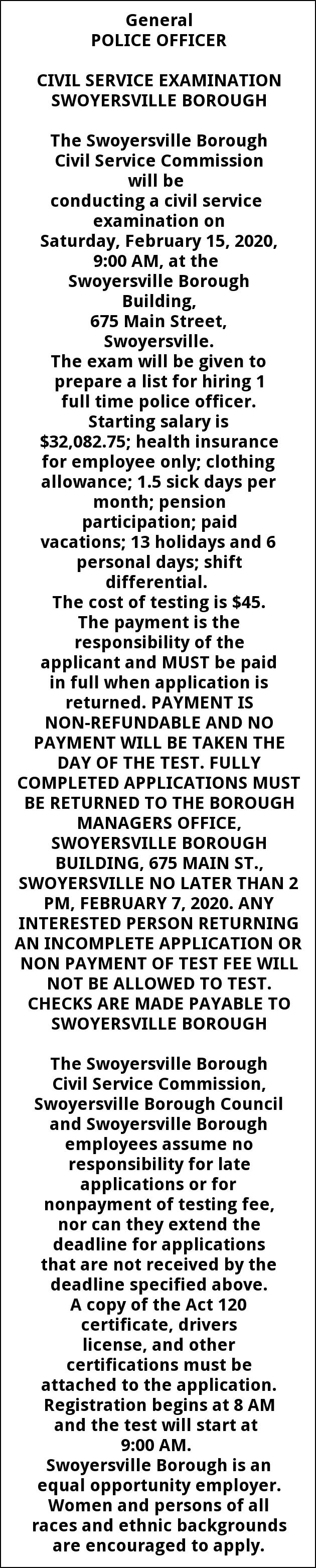 Police Officer Needed