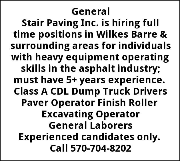 Full Time Positions In Wilkes Barre