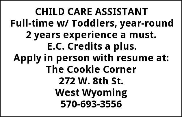 Child Care Assistant