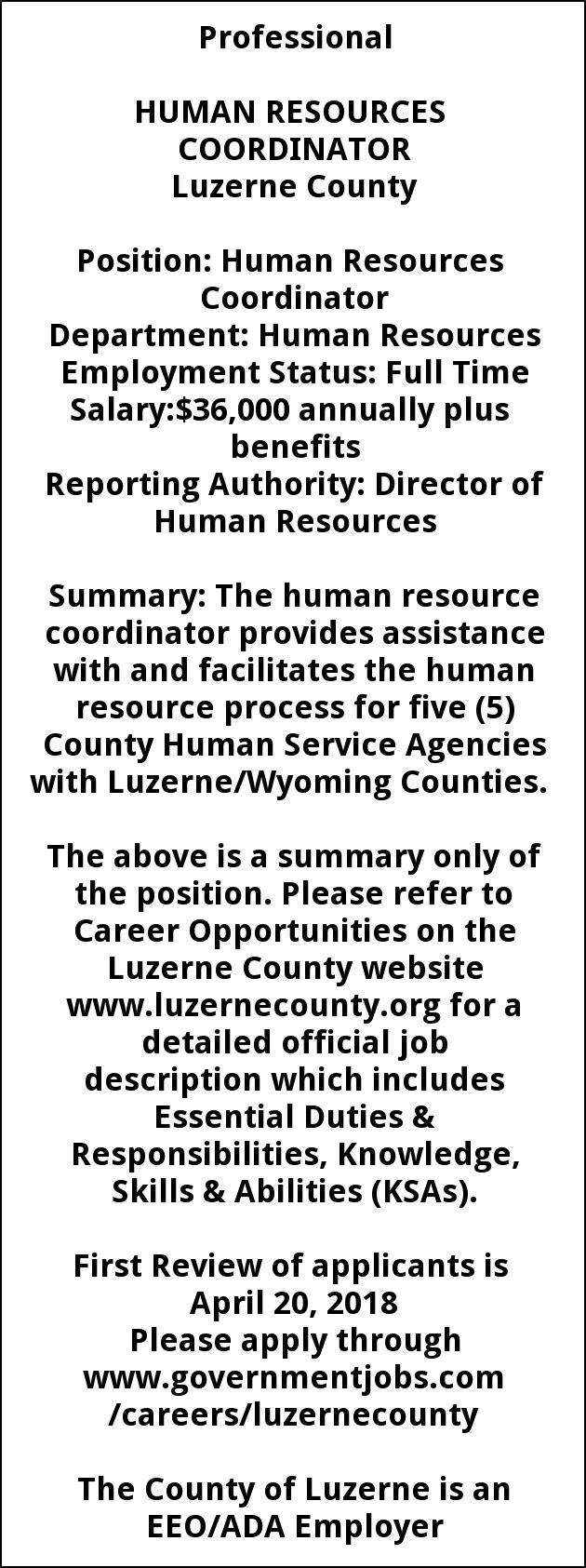 Human Resources Coordinator