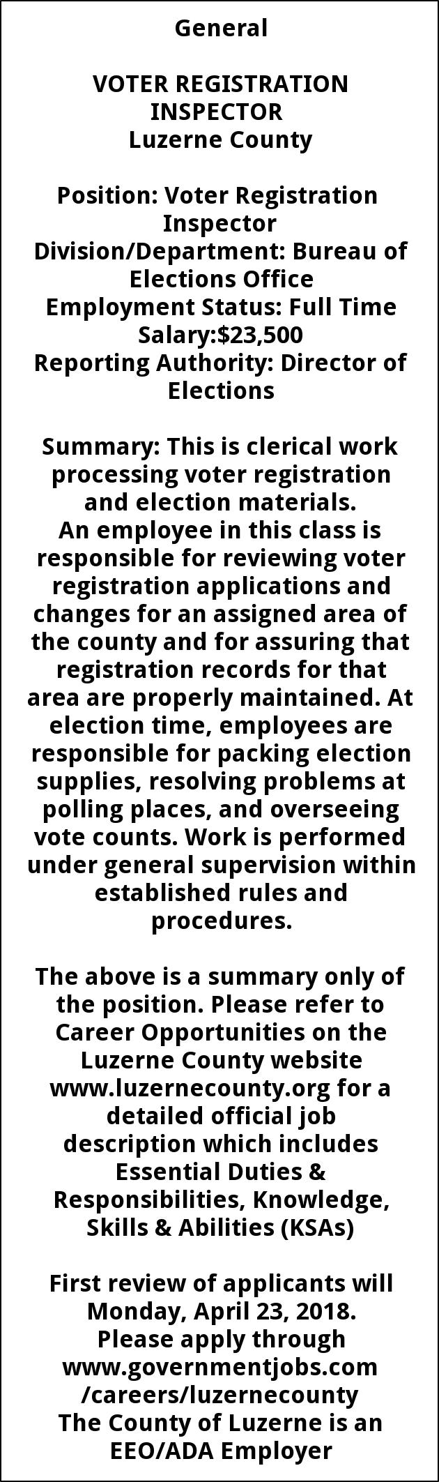 Voter Registration Inspector